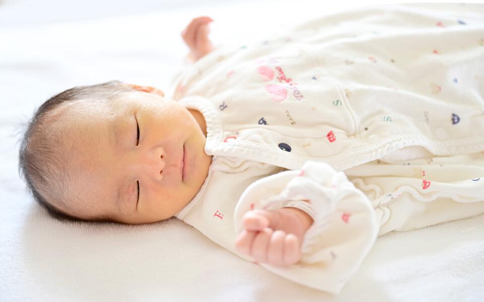 赤ちゃんが寝ている写真
